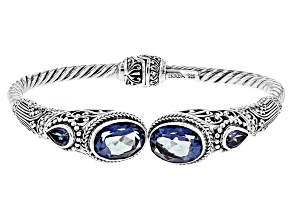English Blue™ Mystic Quartz® Silver Bracelet 7.80ctw