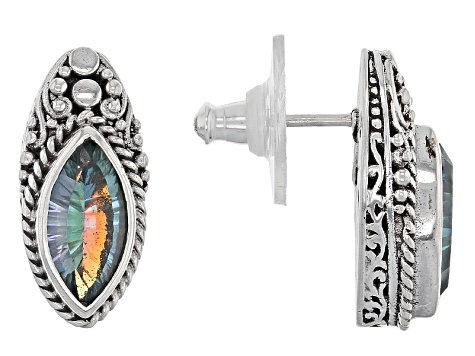 Pilgrim's Quest™ Mystic Quartz® Silver Earrings 2.72ctw
