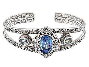 Cuckoo Flower™ Mystic Quartz® Silver Bracelet 7.00ctw