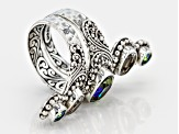 Lily Frost™ Mystic Quartz® Silver Ring 3.72ctw