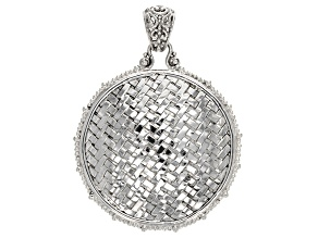 Sterling Silver Basket Weave Pendant