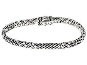 Sterling Silver Woven Link Bracelet.