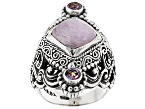 Pink Kunzite Silver Ring .50ctw