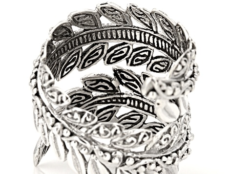 Sterling Silver Bypass Leaf Ring