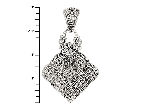 Sterling Silver Scalloped Pendant