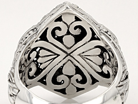 Sterling Silver Scalloped Ring