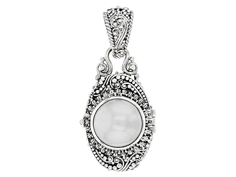 Pearl Mabe Silver Locket