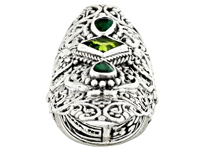 Green Peridot Silver Ring 1.70ctw