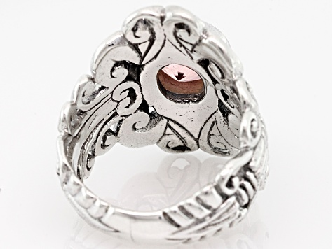 Always True Rose™ Quartz Silver Ring 1.50ctw