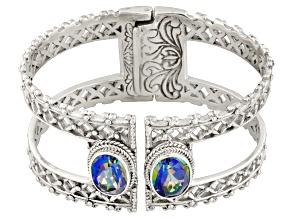 Richey Blue™ Quartz Silver Bracelet 9.00ctw