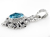 Blue Topaz Sterling Silver Pendant 5.60ctw