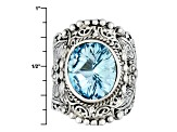 Blue Topaz Sterling Silver Ring 4.30ctw