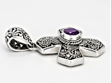 Artisan Gem Collection Of Bali ™ Amethyst Sterling Silver Cross Pendant
