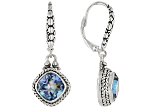 Blueicious™ Mystic Quartz Rhodium Over Silver Earrings 4.68ct