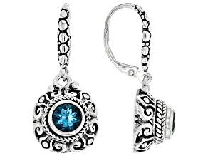 Swiss Blue Topaz Sterling Silver Earrings 0.94ctw