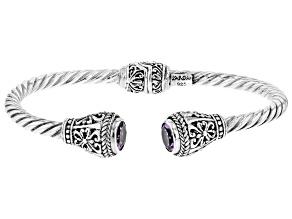 Purple Amethyst Sterling Silver Bracelet 0.94ct
