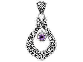 Purple Amethyst Sterling Silver Pendant 0.64ct