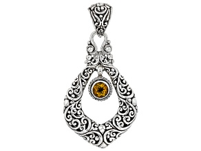 Orange Citrine Sterling Silver Pendant 0.61ct