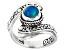 Paraiba Blue Opal Silver Ring