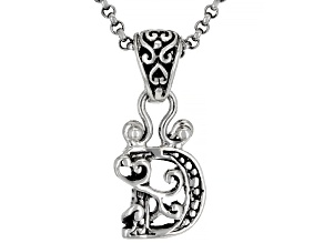 """Sterling Silver Initial """"D"""" Pendant With 18"""" Chain"""