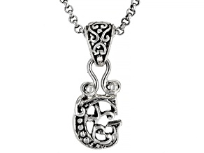 "Sterling Silver Initial ""G"" Pendant With 18"" Chain"