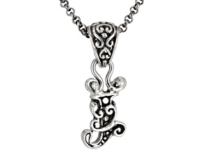 """Sterling Silver Initial """"J"""" Pendant With 18"""" Chain"""