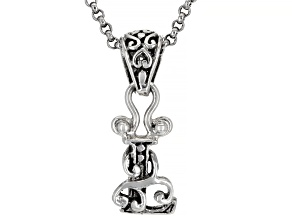 """Sterling Silver Initial """"L"""" Pendant With 18"""" Chain"""
