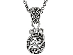 "Sterling Silver Initial ""O"" Pendant With 18"" Chain"