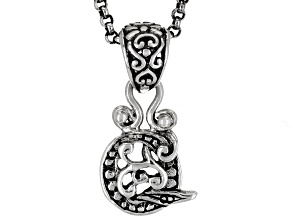 """Sterling Silver Initial """"Q"""" Pendant With 18"""" Chain"""
