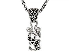 """Sterling Silver Initial """"S"""" Pendant With 18"""" Chain"""