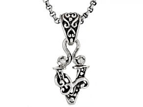 "Sterling Silver Initial ""V"" Pendant With 18"" Chain"