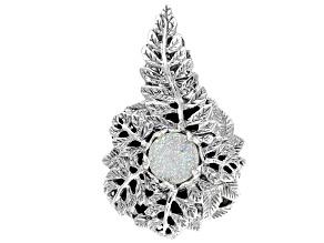 Snow™ Drusy Sterling Silver Brooch Pendant