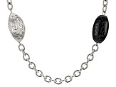 Black Onyx Stainless Steel Necklace