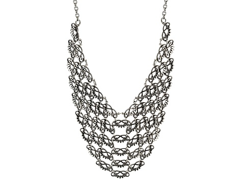 Stainless Steel Bib Necklace