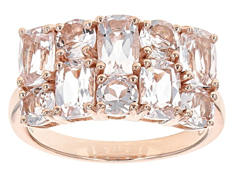 Pink Morganite 18k Rose Gold Over Silver Ring 3.45ctw