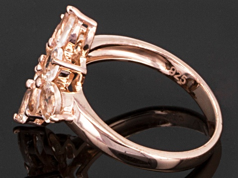Pink Morganite 18k Rose Gold Over Silver Ring 2.75ctw