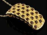 Brown Andalusite 18k Yellow Gold Over Sterling Silver Pendant With Chain 1.66ctw