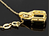 Green Moldavite 18k Gold Over Silver Pendant With Chain 1.78ctw