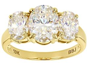 Fabulite Strontium Titanate 10k Yellow Gold Ring 4.91ctw