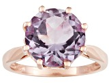 Orchid Amethyst 2.84ct,18k Rose Gold Over Sterling Silver Solitaire Ring