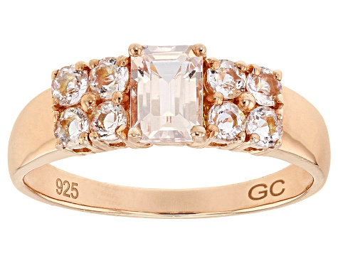 Pink Morganite 18k Rose Gold Over Silver Ring 1.65ctw