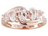 Peach Morganite 18k Rose Gold Over Silver Ring 1.31ctw