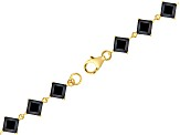 Black Spinel 18k Yellow Gold Over Sterling Silver Bracelet 15.04ctw