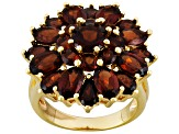 Red Garnet 18k Yellow Gold Over Silver Ring 7.65ctw