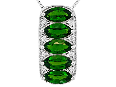 Chrome Diopside Sterling Silver Pendant With Chain  2.69ctw