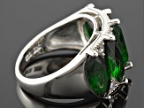 Chrome Diopside Sterling Silver Ring 5.27ctw