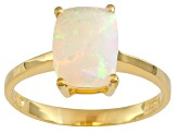 Ethiopian Opal 18k Yellow Gold Over Sterling Silver Ring .90ctw