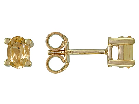 Citrine 18k Yellow Gold Over Silver Earrings .90ctw