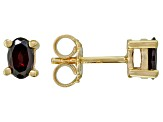 Red Garnet 18k Yellow Gold Over Silver Earrings 1.30ctw