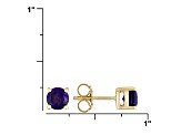Amethyst 18k Yellow Gold Over Silver Stud Earrings 1.80ctw